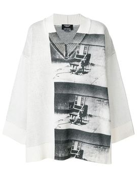 Calvin Klein 205 W39nycx Andy Warhol Foundation Little Electric Chair V Neck Jumperhome Men Calvin Klein 205 W39nyc Clothing Knitted Sweatersrunning Sneakersx Andy Warhol Foundation Little Electric Chair V Neck Jumper by Calvin Klein 205 W39nyc