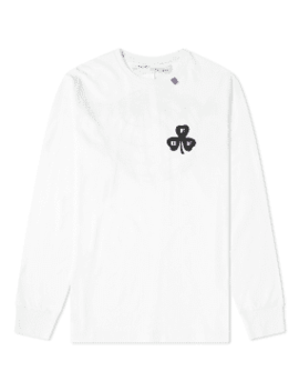Off White Long Sleeve Globe Tee by Off White