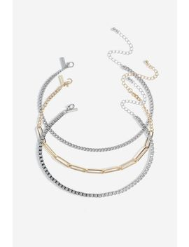 **Mix Chain Choker Pack by Topshop