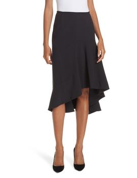 Melepia Asymmetrical Faux Wrap Skirt by Boss