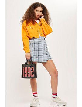 Tall Check Kilt Skirt by Topshop