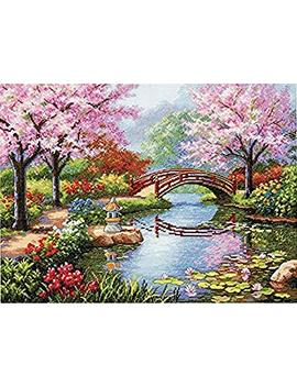 Dimensions Counted Cross Stitch Kit, Japanese Garden by Amazon