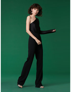 One Shoulder Jumpsuit by Dvf