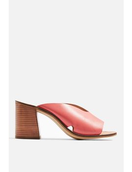**Wide Fit Heeled Mules by Topshop
