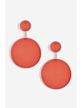 **Red Circle Drop Earrings by Topshop