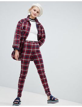 Monki Check Peg Pants by Monki