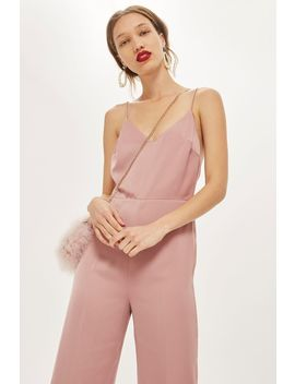 Strappy Satin Jumpsuit by Topshop