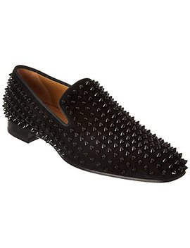 Christian Louboutin Dandelion Spikes Suede Loafer by Christian Louboutin
