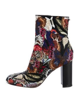 Valentino Butterfly Jacquard Booties by Valentino