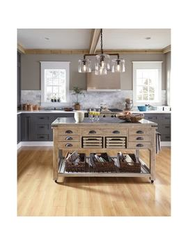 The Gray Barn Firebranch Wood And Stone Kitchen Island by Kosas Home