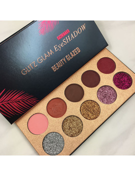 Beauty Glazed Eyeshadow Palette Shimmer Matte Neutral Glitter Eyeshadow Pallete 10 Shades Pigmented Eye Shadow Warm Colors by Beauty Glazed