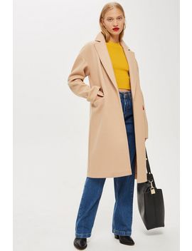 Relaxed Camel Coat by Topshop