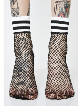 Feelin' Sporty Fishnet Socks by Ana Accessories