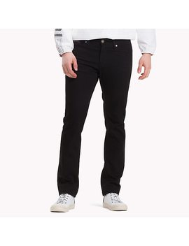 Stretch Slim Fit Cotton Denim Trousers by Tommy Hilfiger