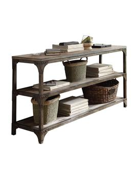 Acme Furniture Gorden Weathered Oak And Antique Silver Console Table by Generic