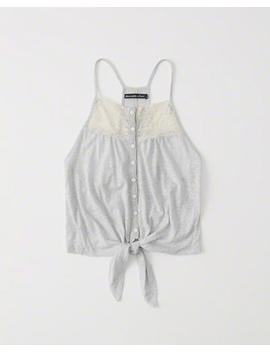 Tie Front Lace Tank by Abercrombie & Fitch