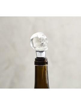 Glass Skull Wine Stopper by Pottery Barn