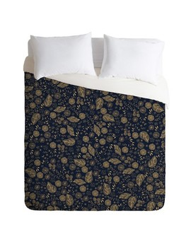 Navy Floral Iveta Abolina Crystalline Water Duvet Cover   Deny Designs by Shop All Deny Designs