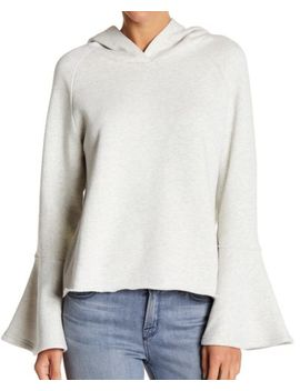 Melrose And Market New Gray Women's Medium M Bell Sleeve Hooded Sweater $30 #550 by Melrose And Market