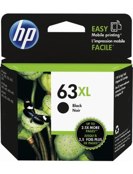 63 Xl High Yield   Black Ink Cartridge   Black by Hp