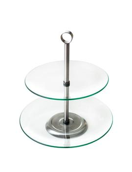 2 Tier Round Glass Buffet And Dessert Stand by Chef Buddy