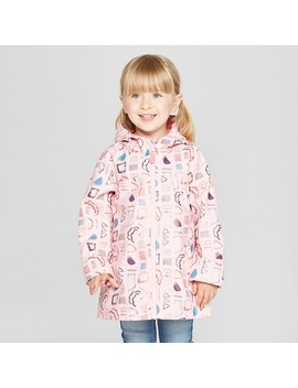 Toddler Girls' Geometric Rain Jacket   Cat & Jack™ Pink by Shop All Cat & Jack™