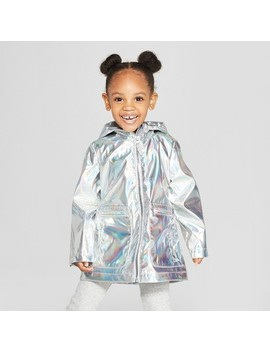 Toddler Girls' Silver Rain Jacket   Cat & Jack™ Silver by Shop All Cat & Jack™
