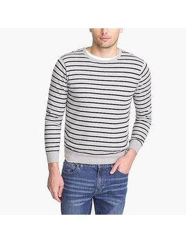 Cotton Jersey Crewneck Sweater In Stripe by J.Crew