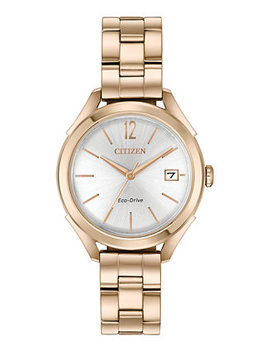 Drive From Citizen Eco Drive Women's Rose Gold Tone Stainless Steel Bracelet Watch 34mm by Citizen