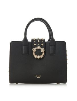 Dune   Black 'duigley' Stud Embellished Tote Bag by Dune