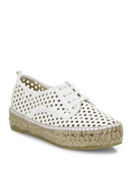 Alfie Perforated Vachetta Leather Espadrille Sneakers by Loeffler Randall