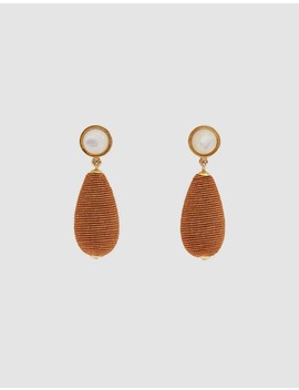 Terra Cotta Drop Earrings by Lizzie Fortunato