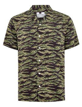 Khaki Camouflage Tiger Short Sleeve Shirt by Topman