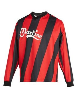 Long Sleeved Twisted Football Shirt by Martine Rose