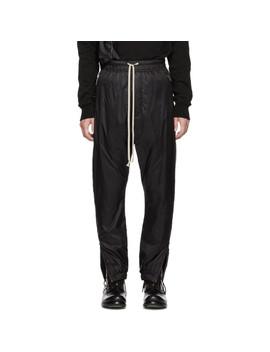 Black Nylon Track Pants by Rick Owens