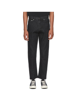 Black Raw Hem Jeans by Second/Layer