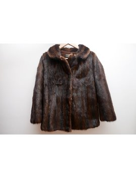 Luxury Vintage Mink Fur, Stole, Cape In Shade Of Brown/ Dark Brown Coat, Natural Mink Fur by Vintage Boutique Pl
