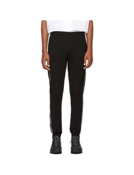 Black Side Stripe Sweatpants by Prada