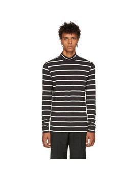 Brown Multi Striped Fitted Turtleneck by 3.1 Phillip Lim