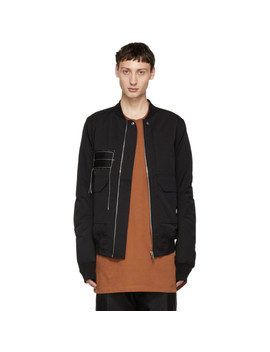 Black Patch Cop Flight Bomber by Rick Owens Drkshdw