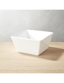 Tuck White Square Soup Bowl by Crate&Barrel