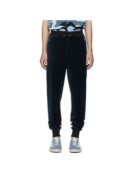Navy Cropped Sweatpants by 3.1 Phillip Lim