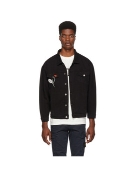 Black Reworked Denim Jacket by Nasaseasons
