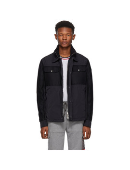 Navy Beaufort Jacket by Moncler