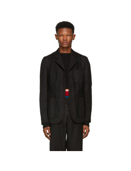 Black Workstitch Blazer by Comme Des GarÇons Shirt
