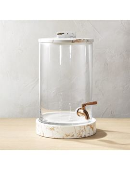 Centro Marbleized Glass Beverage Dispenser by Crate&Barrel