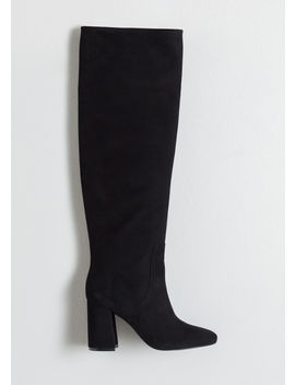Knee High Suede Boots by & Other Stories