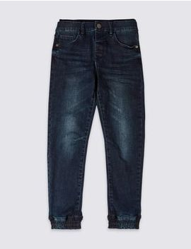 Ribbed Jeans (3 16 Years) by Marks & Spencer