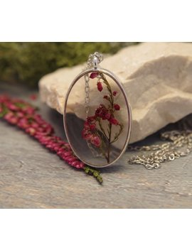 Real Flower Necklace Flower Resin Pendant Pressed Flower Necklace Dried Flower Pendant Flower Jewelry Natural Plan Mothers Day Gift For Mom by New Jewellery Story