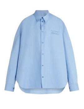 Oversized Logo Embroidered Shirt by Martine Rose
